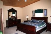 large bedroom in the smokies