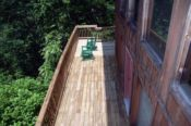main deck with views of the Smokies