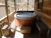 Sit back in this hot tub and let all your worries go away